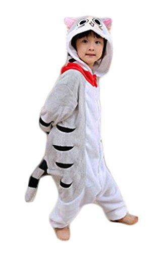 Auspicious beginning Traje de Cosplay del gato de los niños pijama Animal de Chi Onesie Sleepsuit Ropa de dormir ropa de casa Kigurumi pijama