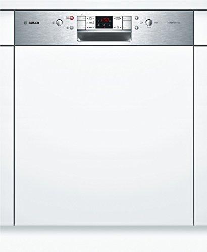 Bosch SMI58L15EU Serie 6 Teilintegrierbarer Geschirrspüler / Einbau / A++ A / 13 Maßgedecke / 46 db / Edelstahl / 3-fach Wasserschutz / Intensive Zone / 59.8 cm