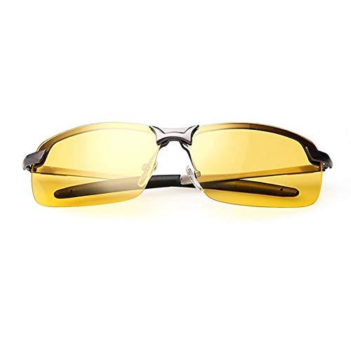 Nachtsichtbrille   Blendschutz Nachtfahrbrille - HD Halbrand / Polarisiert / Ultra Light Metall / Gewidmet Nachtbrille