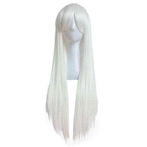 Teufel Kostüm Haar (WOCACHI Masquerade Cosplay Wigs 80cm volle Perücke lange gerade Perücke Cosplay Partei Kostüm Haar Perücke)