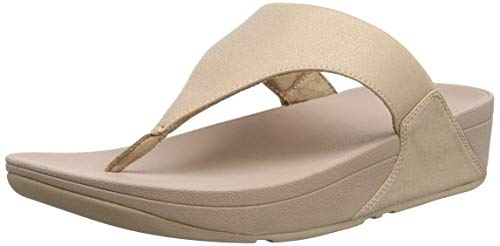 Fitflop Lulu SHIMMERLUX, Infradito Donna, Rosa (Rose Gold 323), 41 EU