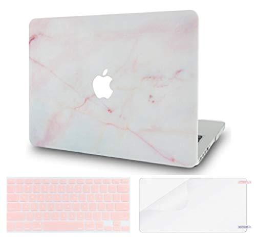 Luvcase MacBook-Tasche mit Tastaturschutz, Displayschutzfolie, Hülle Mehrfarbig Light Pink Marble with Keyboard Cover and Screen Protector A1932 New Air 13