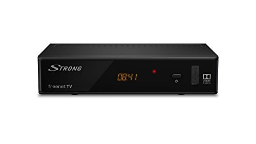 STRONG SRT 8541 DVB-T2 HD Receiver (für freenet TV) mit HEVC Technologie, HDMI, SCART, USB, Ethernet, ANT IN, Fernbedienung, schwarz