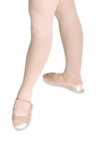 Roch Valley Ballettschläppchen aus Satin mit durchgehender Sohle Blassrosa
