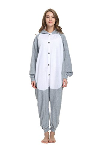 AGOLOD Fleece Onesies Pyjamas Adult Cosplay Kostüm für Halloween Christmas Party Wear