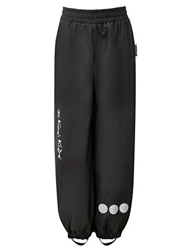 Kozi Kidz PU Essential Rain Over Trousers Fleece Lined - Red/Navy Blue/Black -
