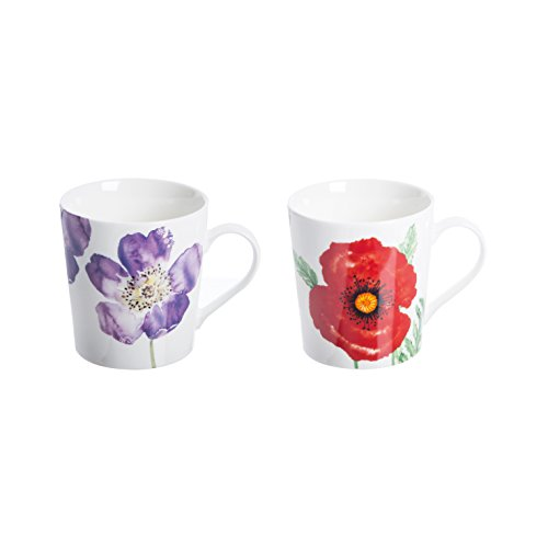 Price Kensington Woodland coquelicots Assortiment &Tasse en porcelaine Fine Multicolore