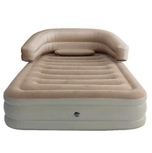 FEIYUESS Doppel Luftmatratze Isomatte mit Rückenlehne leichte Isomatte wasserdicht Outdoor Wanderrucksack Hängematten Zelt Auto (Color : Gray)
