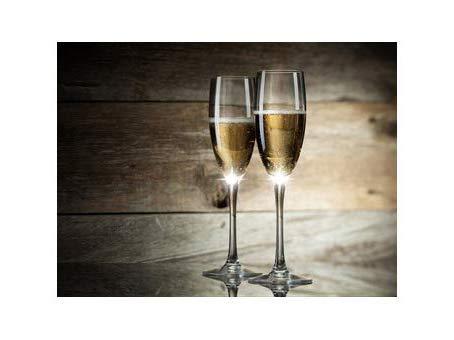 Stunning beleuchtet Champagner Flöten auf Leinwand, Licht Up LED Leinwandbild Paar gefüllt Champagner Flöten aus '