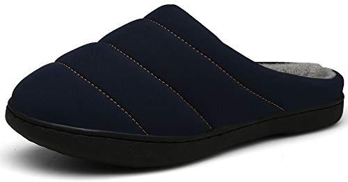 DAFENP Uomo Donna Pantofole Invernali Caldo Morbido Peluche Scarpe Casa Interno All'aperto XZ333A-Blue-EU43/44