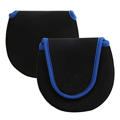 LIXIAQ1 Multifunktions Baitcaster Baitcasting Angelrolle Cover Handschuh Schutzrolle Aufbewahrungstasche Kleine Reel Bag