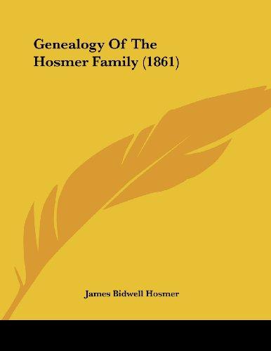 Genealogy of the Hosmer Family (1861)