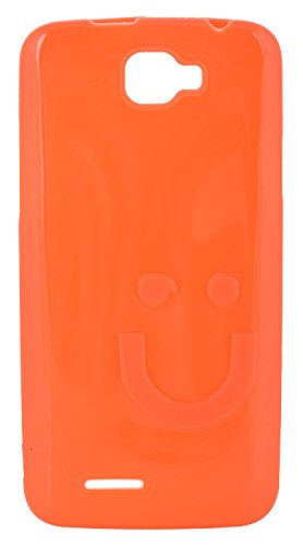 iCandy™ Imported Quality Soft TPU Smiley Back Cover For Micromax Canvas Mad A94 - Fanta  available at amazon for Rs.190