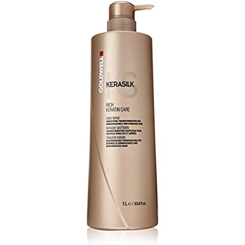 Goldwell Kerasilk Rich Keratin Care Daily Mask - Smoothing Transformation (For Unmanageable and Damaged Hair) 1000ml