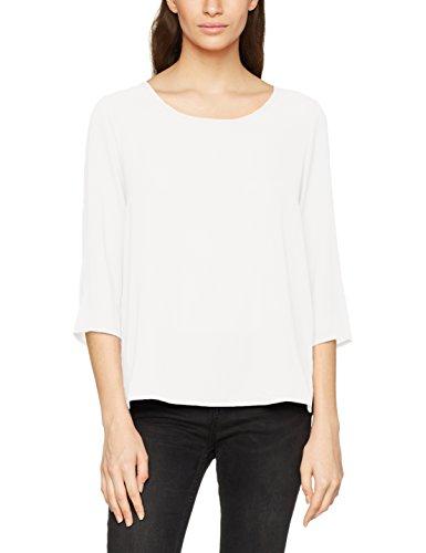 T-Shirt ONLY, in tinta unita, scollo tondo, chiusura con zip sul retro. Manica 3/4 nel dettaglio.