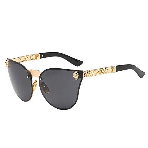 YEARNLY Sonnenbrille Damen Herren Mode Unisex Vintage Shaded Objektiv dünne Brille Mode Flieger Sonnenbrille -