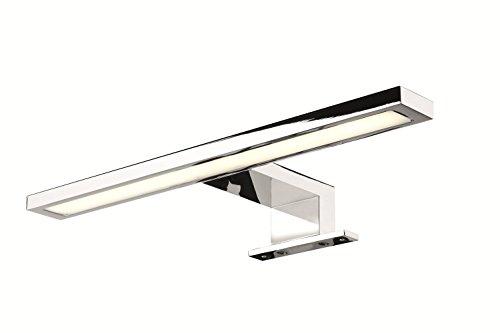 Moderne LED-Leuchte Spiegelleuchte Bad Anbauleuchte Spiegel-Schrank - Modell VION LITE | Chrom poliert | Länge 300 mm | Badleuchte Energieeffizienz A++ | warmweiß 3000 K | IP44 geprüft | W 230V | Möbelbeschläge von GedoTec® (Wand-vorschaltgerät)