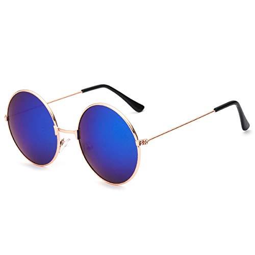 Sonnenbrillen Ladies Fashion Round Mirror Sunglasses Women Men Vintage UV400 Protection Sun Glasses Retro Eyeglasses Oculos De Sol 4066 x16 Gold