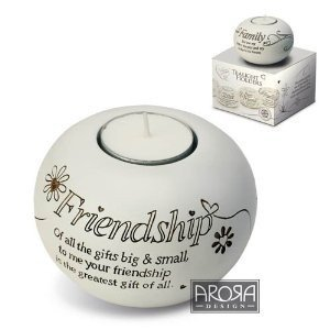 Arora Said with Sentiment Tealight Holder - Friendship by Said with sentiment