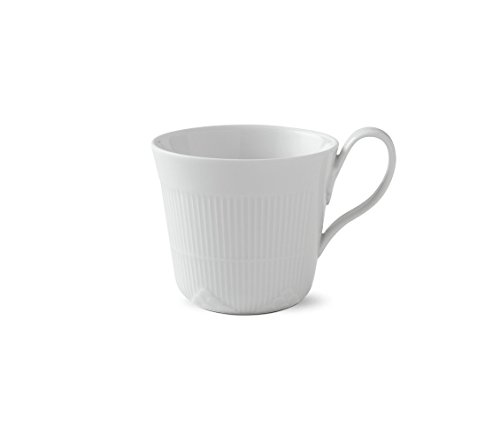 Royal Copenhagen White Elements High Handle Cup 35cl - Royal Copenhagen Elements