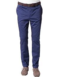 Strellson Premium Herren Hose Zinc Baumwolle Pant Unifarben, Größe: 56, Farbe: Blau