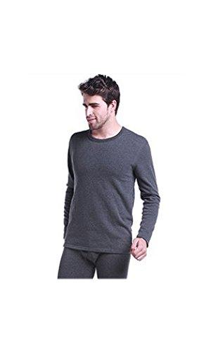 Herren 100% besonders reiner Baumwolle schweres Gewicht (240 g) weich Langarm tailliertes T-Shirt-Weste oben (thermisch) hohe Qualität (ref: 1290) (groß(large), Kohle(charcoal)) (Hohe T-shirt Qualität)