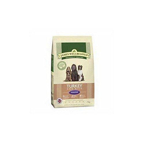 James Wellbeloved Hundefutter Pute und Reis Senior (7,5kg (6Stück)