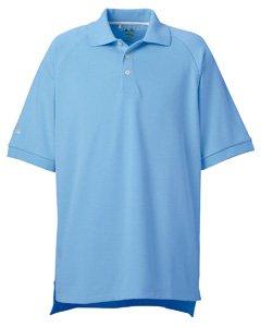adidas Golf Mens Climalite Tour Pique Short-Sleeve Polo (A108) -Tide/White -3XL - Adidas Striped Polo