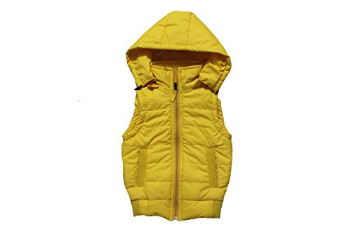 Derbenny Yellow Nylon Sleeveless Solid Boy's & Girl's Jacket  available at amazon for Rs.999