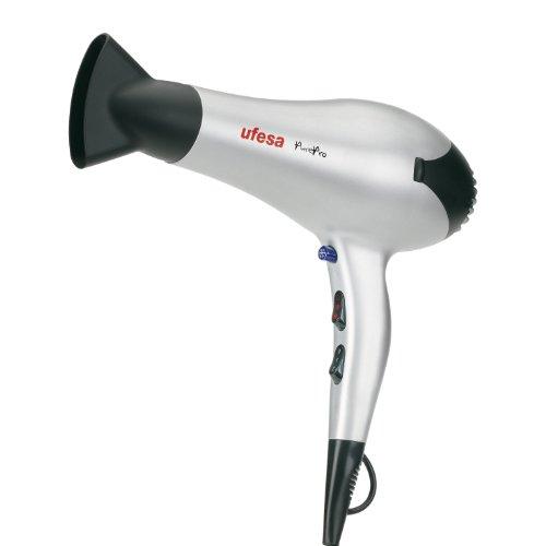Ufesa Pure Pro - Secador de pelo, 2200 W, 2 velocidades, 3 temperaturas, motor AC profesional