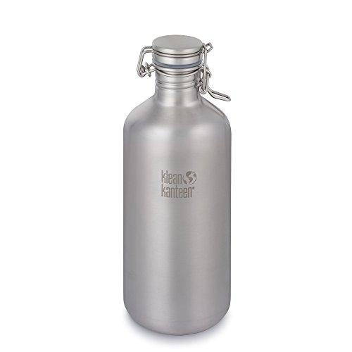 Klean Kanteen 64 Oz growler met Swing LOK Cap - 1900 ml drinkfles, grijs - Schiere Flasche