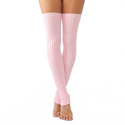 Purple Wink Stirrup Leg Warmers