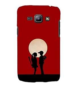 EPICCASE moon love Mobile Back Case Cover For Samsung Galaxy J1 (Designer Case)