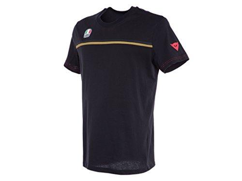 Dainese T-Shirt Fast-7, schwarz/gold, Größe XXXL -