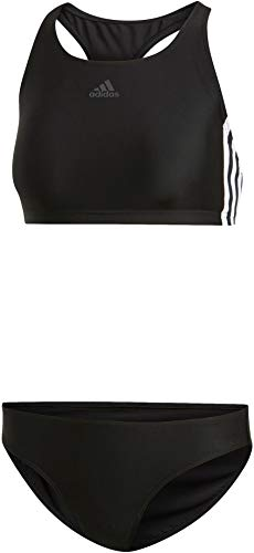 adidas Damen FIT 2PC 3S Badeanzug , Schwarz(black) , 34 - Sportliches Set