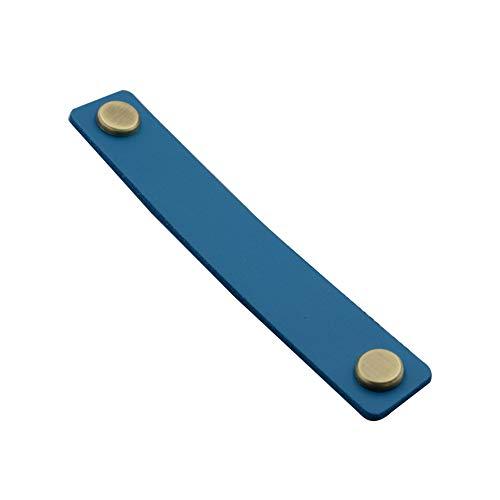 Schublade zieht diy pu-leder möbel hause kabinett griff handwerk türgriffe mit schrauben soft hardware kleiderschrank griff schrank kommode(159MMBlau)
