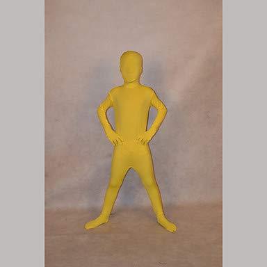 HAOBAO Zentai Anzüge Ninja Fest/Feiertage Halloween Kostüme Gelb einfarbig Zentai Kostüme Kind Lycra, s (Kind Gelb Ninja Kostüm)