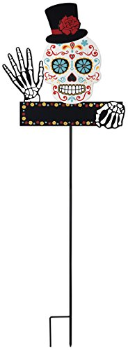 14927 Day Of The Dead weiß Sugar Skull Schild Dem Spiel (Spooky Halloween-yard-ideen)