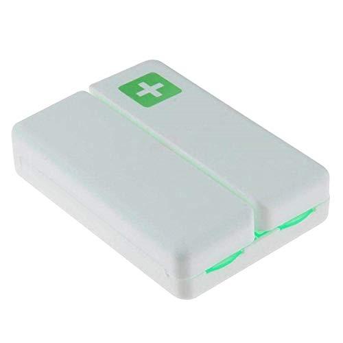7-Grid tragbare wöchentliche Pille Medizin Aufbewahrungsbox Fall Veranstalter Container mit Magneten für Home Office Travel Business Trip Green -
