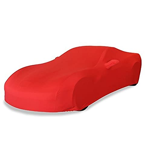 2005-2013 C6 Corvette Indoor Ultraguard Stretch Satin Car Cover (Red) by West Coast Corvette / Camaro