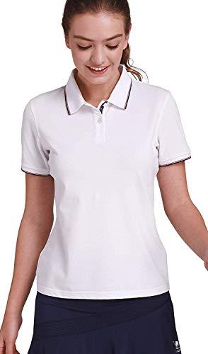 CAMEL CROWN Damen Poloshirt, Polo Shirt Tailliert Klassisch Sommer T-Shirt Sports Atmungsaktiv Basic-Shirt Bequem Für Golf Tennis Wandern und Freizeit