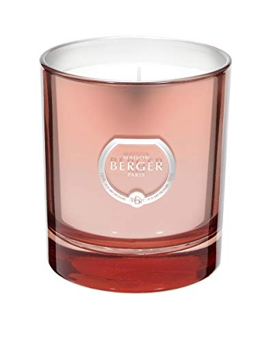 Lampe Berger Poesie Bougie Parfumée Verre Rose 240 g