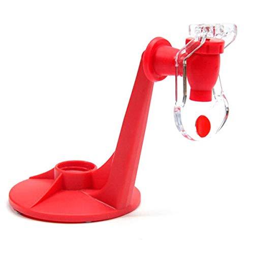 BESTONZON Dispositivo para Beber Agua con dispensador de refrescos de refresco de Agua de refresco Cola Soda con Grifo (Rojo)