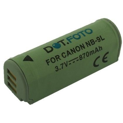 Dot.Foto Qualitätsakku für Canon NB-9L,NB-9LH - 3,7v / 870mAh - Garantie 2 Jahre - Canon IXUS 500 HS,510 HS,1000 HS,1100 HS / Canon PowerShot