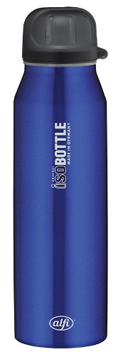 Alfi 5337638050 Isolier-Trinkflasche edelstahl (0,5 Liter) rein blau