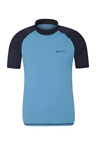 Mountain Warehouse UV-Badeshirt für Herren - Schwimmshirt mit UPF50+, schnelltrocknend, Flache Nähte UV Shirt - Ideal für Schwimmen und Tragen unter einem Schwimmanzug Dunkelblau XX-Large