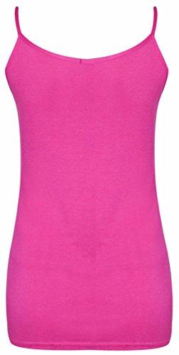 Purple Hanger - Débardeur Femme Sans Manche Extensible Léger Bretelle Uni Grande Taille Cerise