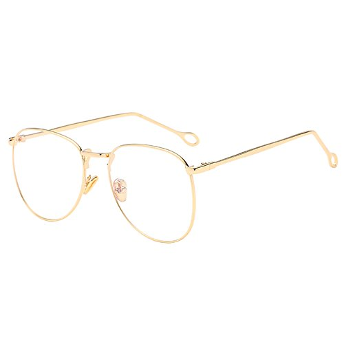 Haodasi Koreanisch Mode Style Metall Rand Resin Spiegel Kurzsichtigkeit Gläser Brillen Stärke Fertig -1.00~-4.00 (Diese sind nicht Lesen Brille)