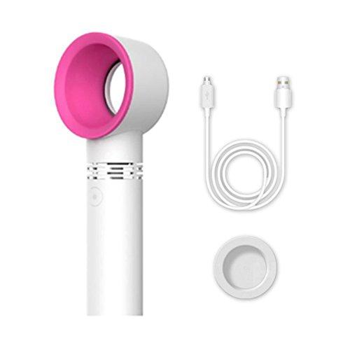 Feeilty Ventilador USB del Escritorio, Ventilador Sin Cuchilla De Mano Mini Refrigerador No Ventilador...