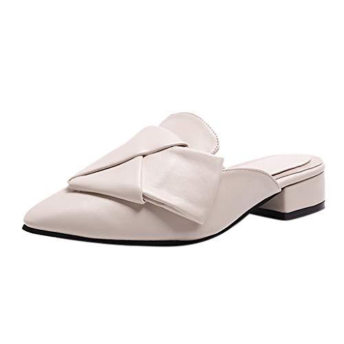 ♥ Loveso♥ 2019 Elegante Damen Slingback Pumps-Party Spitz Sandalen Slingback Absatz Pointed Toe Slipper (Kragen Slipper)